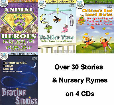 Huge Collections of CHILDREN'S AUDIO BOOKS on 3 CDs Lot NEW