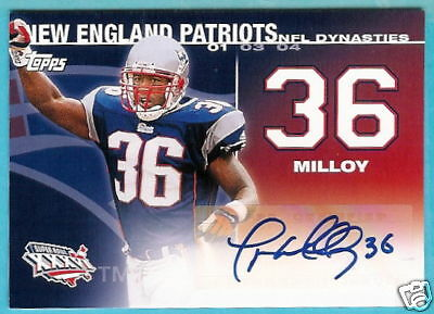 LAWYER MILLOY 2008 TOPPS NFL DYNASTIES AUTOGRAPH /500
