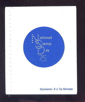 Gb 1975 Nat.stamp Day Booklet +Perfins..white Stitching