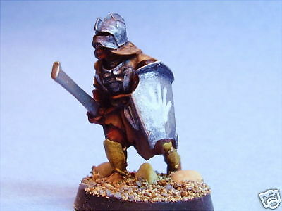 Lord of the Rings painted miniature Uruk-Hai warrior