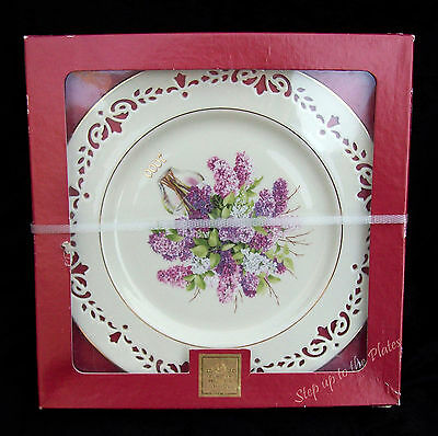 Lenox China Colonial Bouquet Plate NEW HAMPSHIRE 2000 6th NIB Never displayed