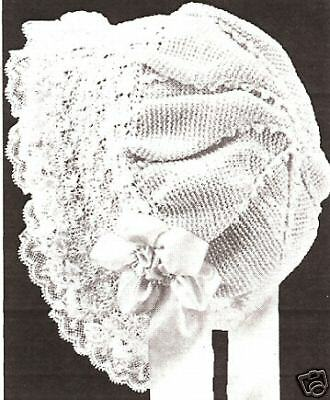 Vintage Antique Crochet PATTERN to make Baby Cap Hat Bonnet Sunday School