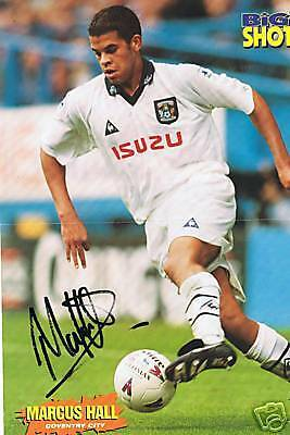 Marcus Hall Coventry City signed picture, FREEPOST