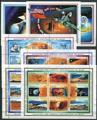 Grenada 1991 Exploration Of Mars Mint Space Stamps  - $74.50 Value!