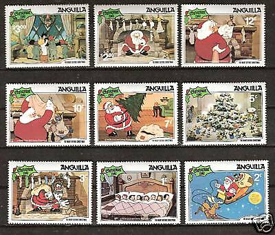 Anguilla # 453-461 Mnh Disney Night Before Christmas, 1981
