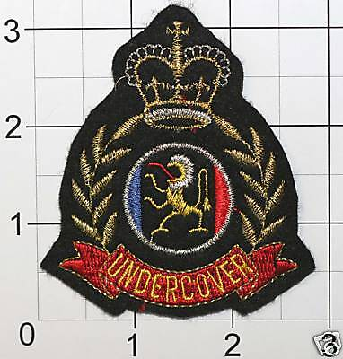 British Great Britain UNDERCOVER emblem patch RARE