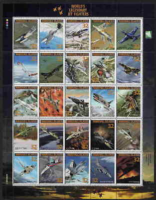 Marshall Islands Legendary Jet Fighter Airplane Stamps!