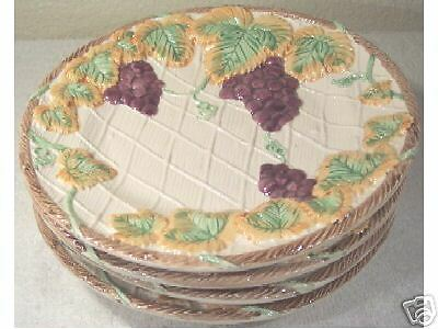 Lot of 4 OCI Grapevine and Lattice Plates ~ NICE!!
