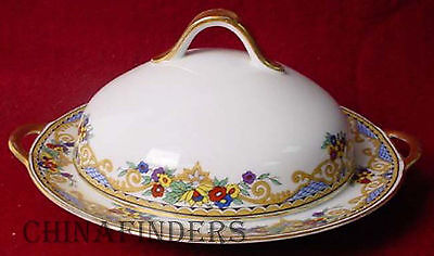 ROYAL BAYREUTH china FAIRMOUNT ptrn COVERED BUTTER DISH
