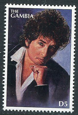 Gambia 1996 Bob Dylan - Rock And Roll Legend Mint Stamp