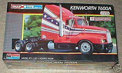 Monogram Kenworth T600A Truck Tractor 1/32 Snap Tite