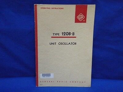 General Radio GENRAD Type 1208-B Instruction Manual