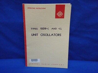 General Radio GENRAD Type 1209-C -CL Instruction Manual