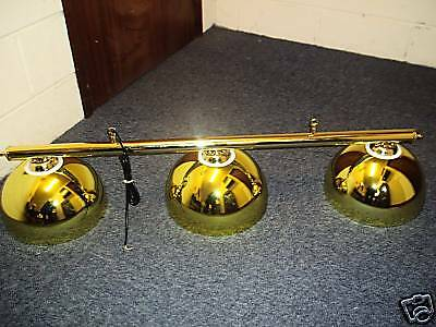 New Pool Snooker Table Brass Rail & Light Shades