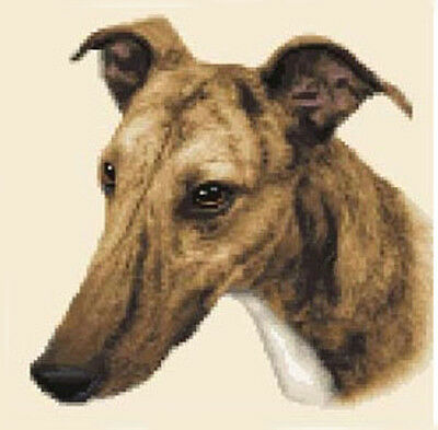 GREYHOUND dog - complete counted cross stitch sewing kit