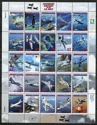 Legendary Airplanes Of The United States Navy Stamps - Set Of 25 In A Sheet!!