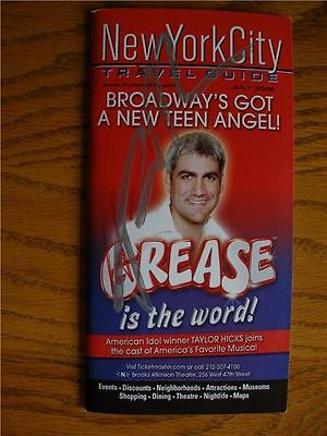 American Idol Taylor Hicks Grease Signed NYC Travel Guide 2008 American Idol New