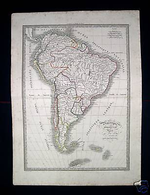 1838. MONIN. South America, Brasile, Chile, Argentina..