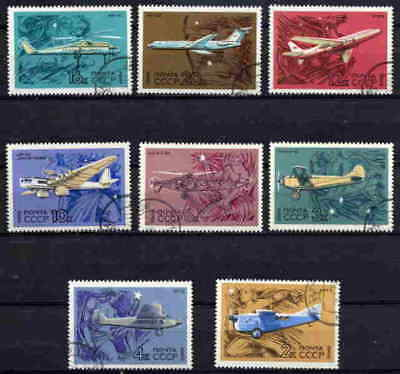 Russia 1969 Aviation - Aircraft Complete Set Of Eight!