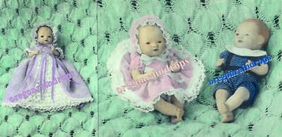 """Vintage 5"""" Byelo Baby Doll Clothes Pattern RARE HTF"""