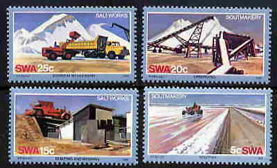 Swa 1981 Salt Making Stamps - Mint Complete Set Of Four