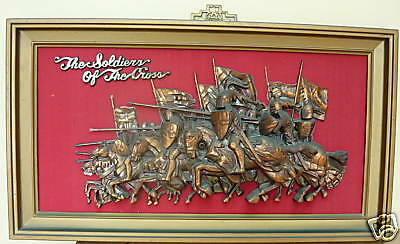 Retro 3D Copper Finnish Art Picture -Soldiers Of The Cross