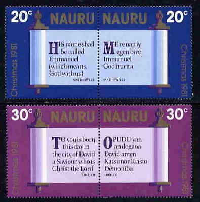Nauru 1980 Christmas - Bible Verse Translations Stamps - Mint Complete  Set!
