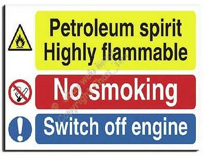 Petrol Mix - No Smoking Sign - Semi Rigid -600x450mm(MU-023-RV)