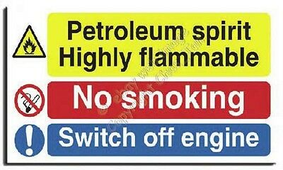 Petroleum Spirit - No Smoking Switch Off Sign S. Rigid-600x350mm(MU-027-RU)