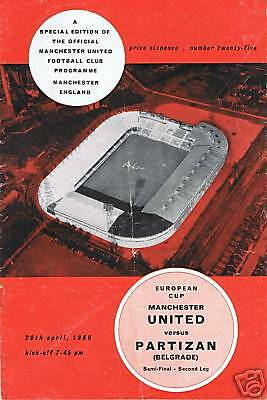 European Cup Manchester United 20.04.1966, FREEUKPOST