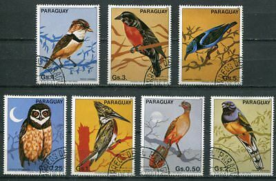 Beautiful Paraguay 1983 Birds Cplt.  Set Of 7 Stamps!