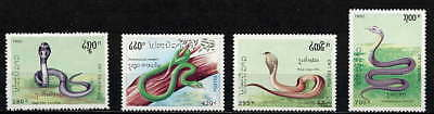 Exotic 1992 Laos Snake Set Mint Never Hinged Complete!