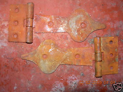 "~ONE~PAIR~OF~5"" RUSTIC GOTHIC Spear Head  T/HINGES~"