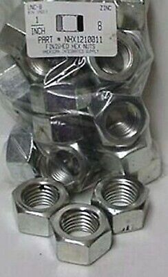 """1""""-8 Finished Hex Nuts Steel Zinc Plated (4)"""