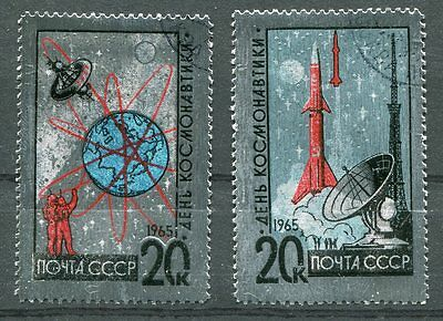 Scarce 1965 Russia Space Foil Stamps - $9.00 Value!