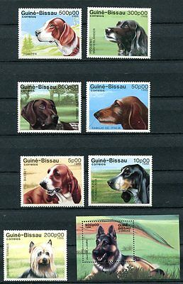 Guinea-Bissau 1988 Domestic Dogs Mint - $14.45 Value!
