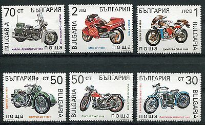 Bulgaria 1992 Harley Davidson - Motorcycles Mint Complete Set Of 6 Stamps!