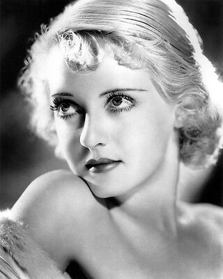 Bette Davis B&w 11X14 Photo Bare Shouldered Early Glam