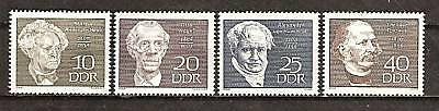 East Germany # 1077-80 Famous Men Otto Nagel Painter