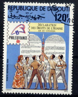 Djibouti 1989 Human Rights - Philexfrance Stamp Show!