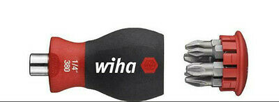 WIHA 33764 Confined Space 57mm Stubby Magnetic Screwdriver & Pz Bits All In ONE