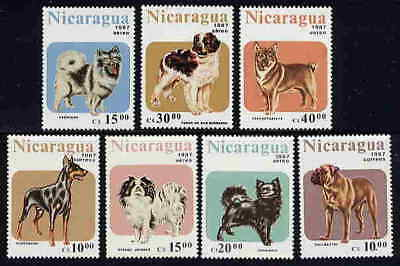 Nicaragua Domestic Dog Stamps - Mint Complete Set Of 7!