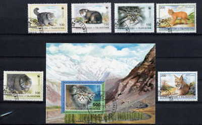 Tajikistan 1991 Wild Cats - World Wildlife Fund Set!