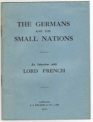 The Germans And The Small Nations - Vintage Wwi Booklet
