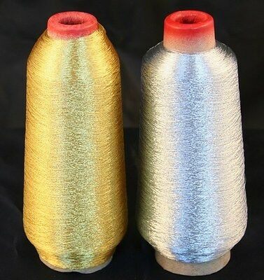 NEW 10000yd X-LG GOLD SILVER MACHINE EMBROIDERY THREADS