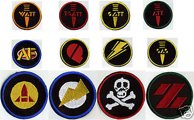 "3"" Fully Embroidered GI Joe Action Force Patch Set   [12 patches, iron-on]"