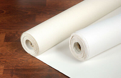 LOXLEY 11oz ACRYLIC PRIMED COTTON BLANK ARTIST CANVAS ROLL 1M x 10 Metres LCR480