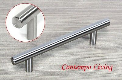 """Solid Stainless Steel 6"""" Kitchen Cabinet Hardware Bar Pull Handle"""