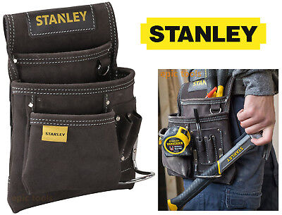 STANLEY Buffalo Dark Tan Leather Nail,Hammer,Tool Belt Pouch Holder, STA180114