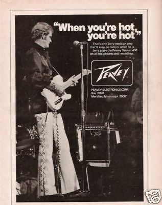 1975 Jerry Reed Peavey Session 400 When Your Hot Ad